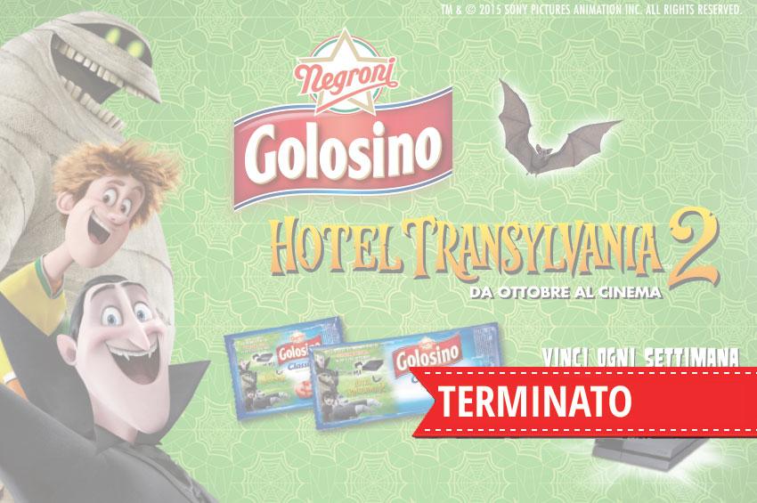 Golosino e hotel transylvania ti regalano play station