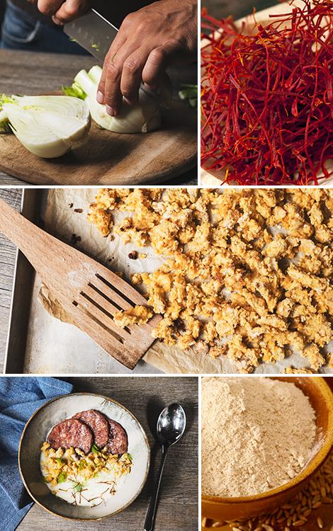 Cotechino con vellutata di finocchi e crumble di - Come cucinare le lenticchie con cotechino ...