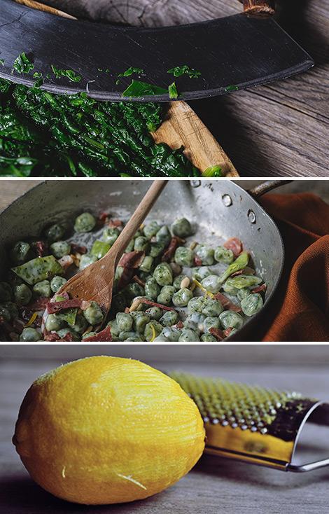 Gnocchetti verdi con taccole