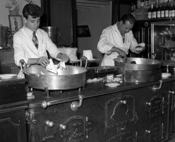 Focacceri al lavoro: foto anni '60