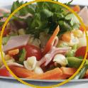 insalata di pasta con verdure e prosciutto