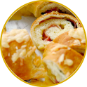 Savoury ring cake with Culatello
