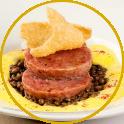 Cotechino Negroni, creamed potatoes and lentils