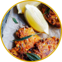Carrot and pancetta fritters