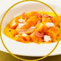 gnocchi di carote effetto carbonara