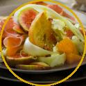 Salat mit Fenchel, Orangen und Schinkenwürfel