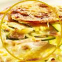 Lasagne with zucchini and mortadella