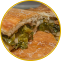 Escarole and bacon pie
