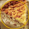 Torta salata con salame e ricotta