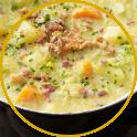 Zuppa di patate, pancetta, carote e porro la ricetta