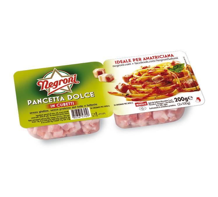 Cubetti pancetta dolce Negroni