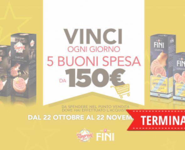 Acquista la linea Precotti Negroni e Fini e vinci Buoni Spesa