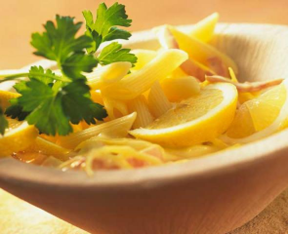 Pennette au citron et au jambon