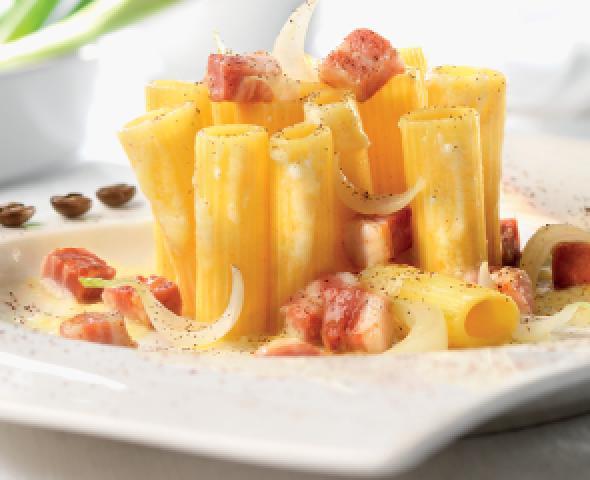rigatoni roman style rigatoni alla gricia recipe food republic roman ...