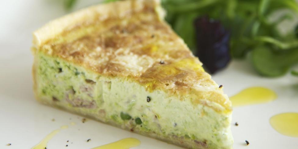 Ricetta torta salata con ricotta e piselli