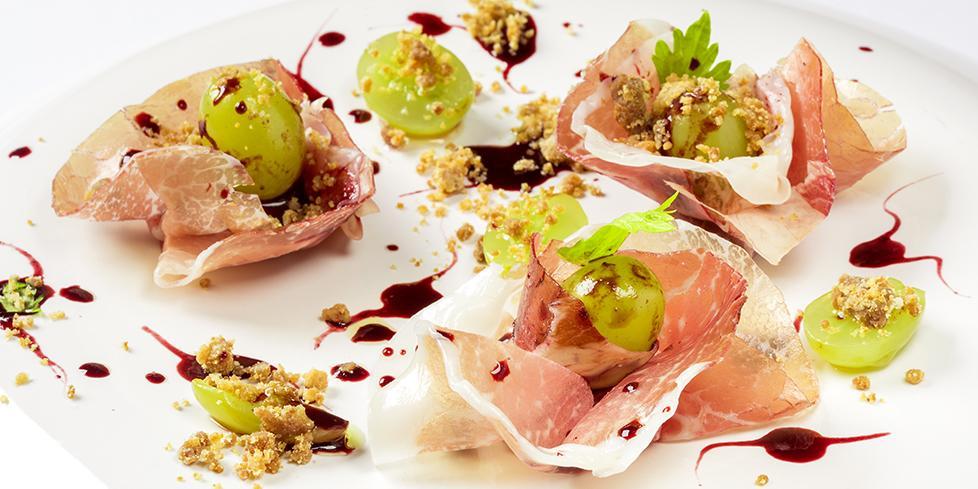 Culatello, uva ghiacciata e lambrusco la ricetta