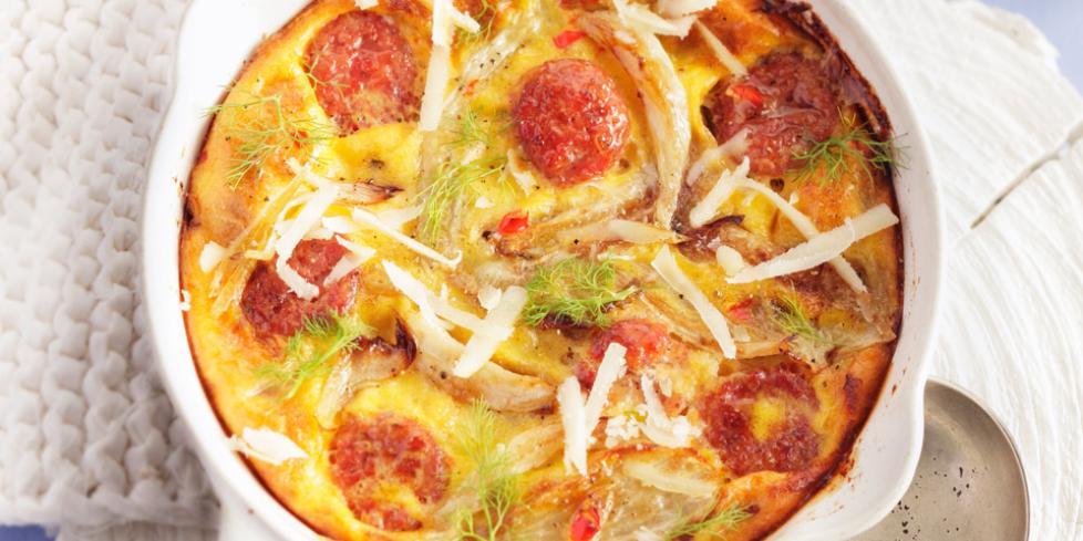 Frittata con Salame Napoli