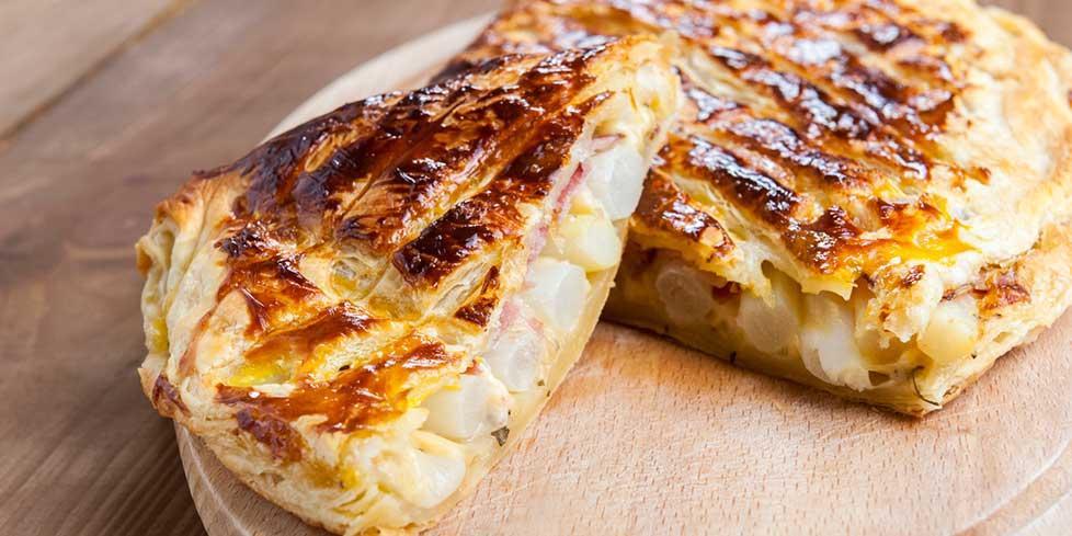 Tarte salée aux asperges et au jambon cru