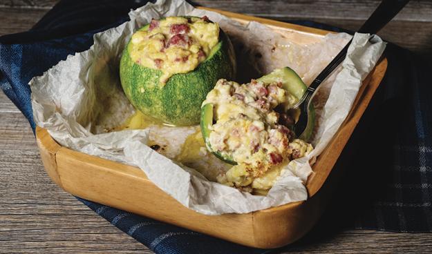 Zucchine tonde ripiene di salsiccia, ricotta e menta la ricetta