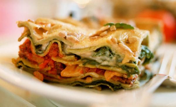 Lasagne mit drei Lagen