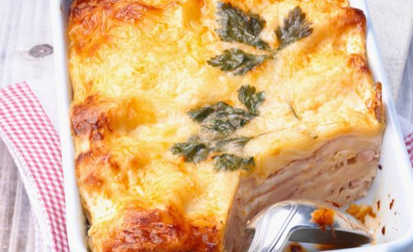 Lasagnes au jambon cuit et à la béchamel