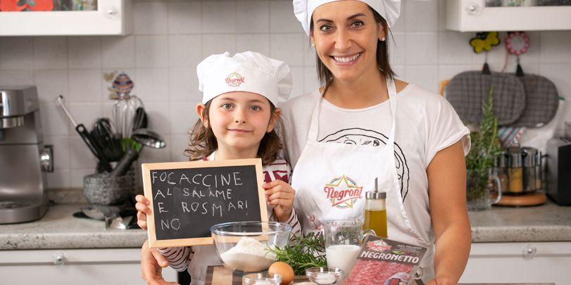 Focaccina salame Negronetto e rosmarino di Erica Liverani