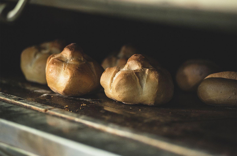 Michetta con mortadella, granella di pistacchi e ricotta fresca