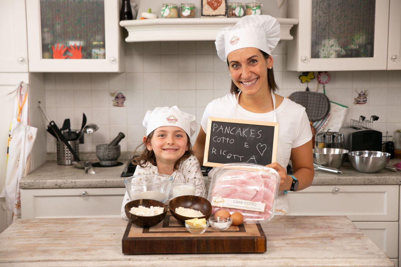 Pancakes salati con prosciutto cotto e ricotta di Erica Liverani