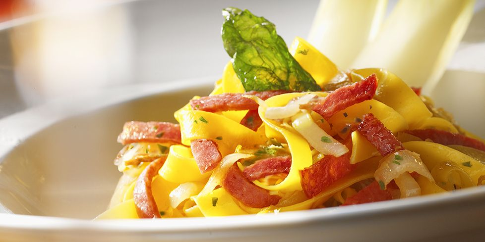 Tagliolini with Culatello di Zibello PDO and endive sauce recipe