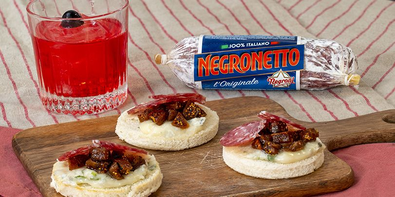 Canapè Negronetto e Ceci n'est pas un Negroni