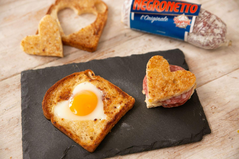 Toast con uova e Negronetto